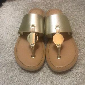 Gold Aldo sandals size 8.5